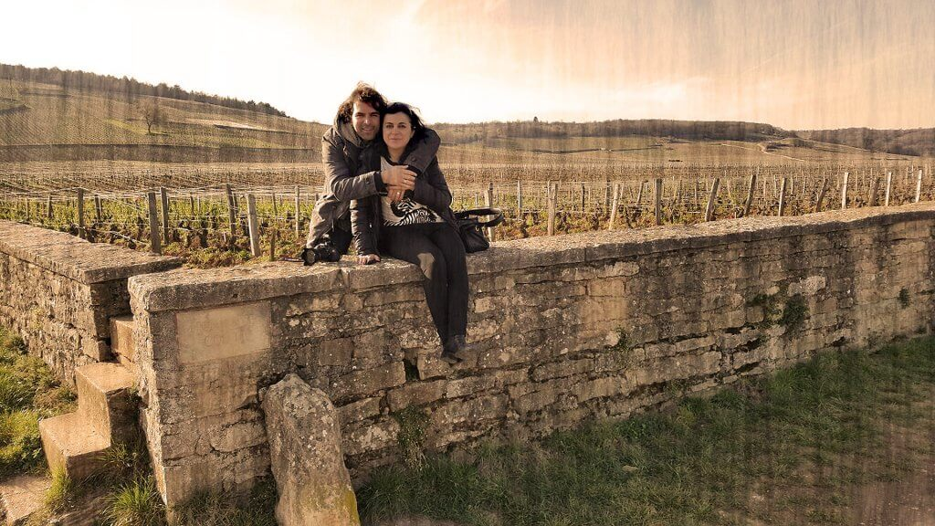 Kike con K y Silvia en Borgoña